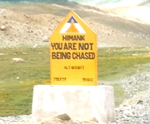 You Are Not Being Chased