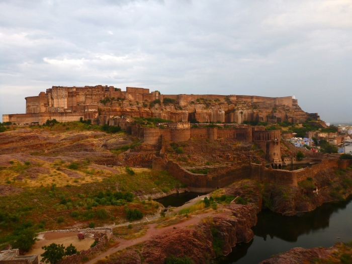 "The gigantic Mehrangarh Fort. The prison pit scenes for ""The Dark Knight Rises"" were filmed here. Also a bunch of important stuff in Indian history happened here, too, probably."